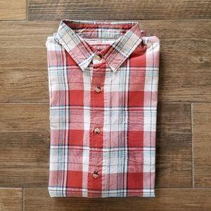 Wrangler Boyfriend Button-Down Plaid Shirt Sz S/M